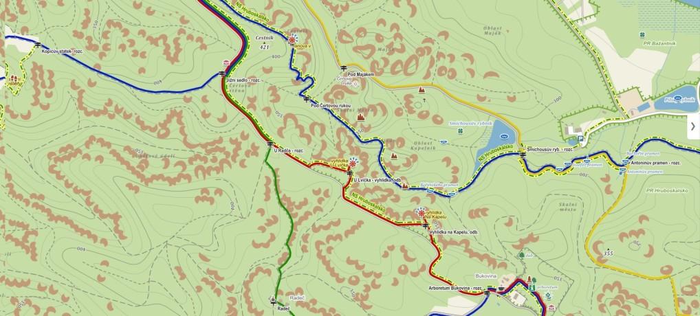 Mapa míst
